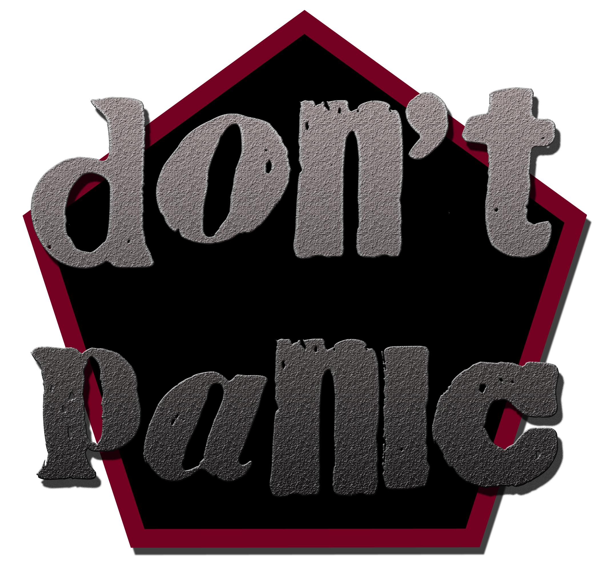 DIY PAinting Cabinets Don't Panic Sign