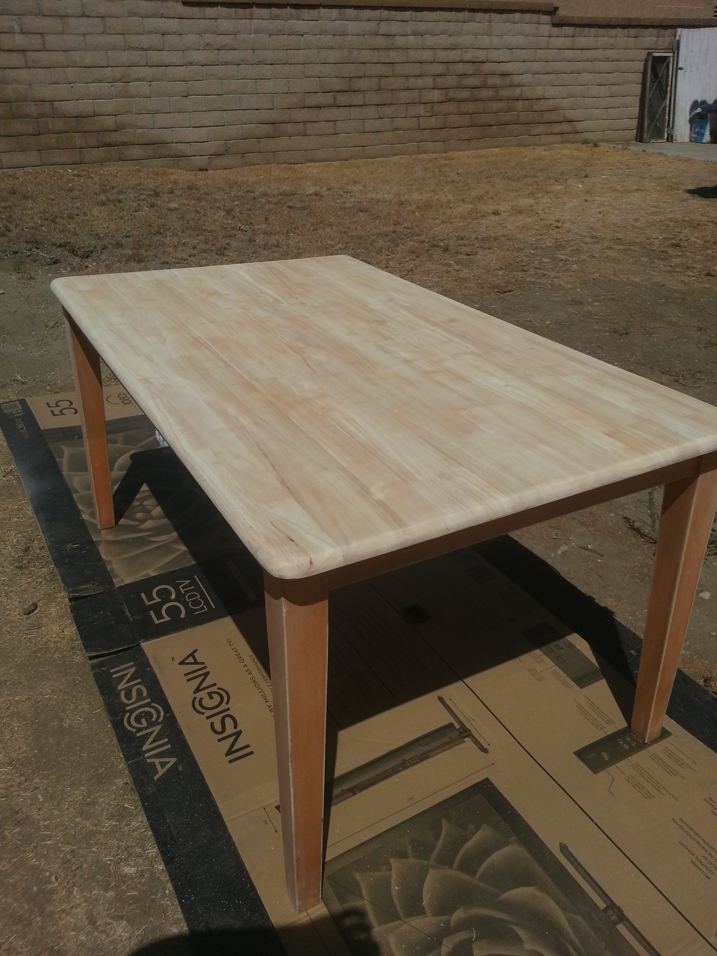 Completely Sanded Top