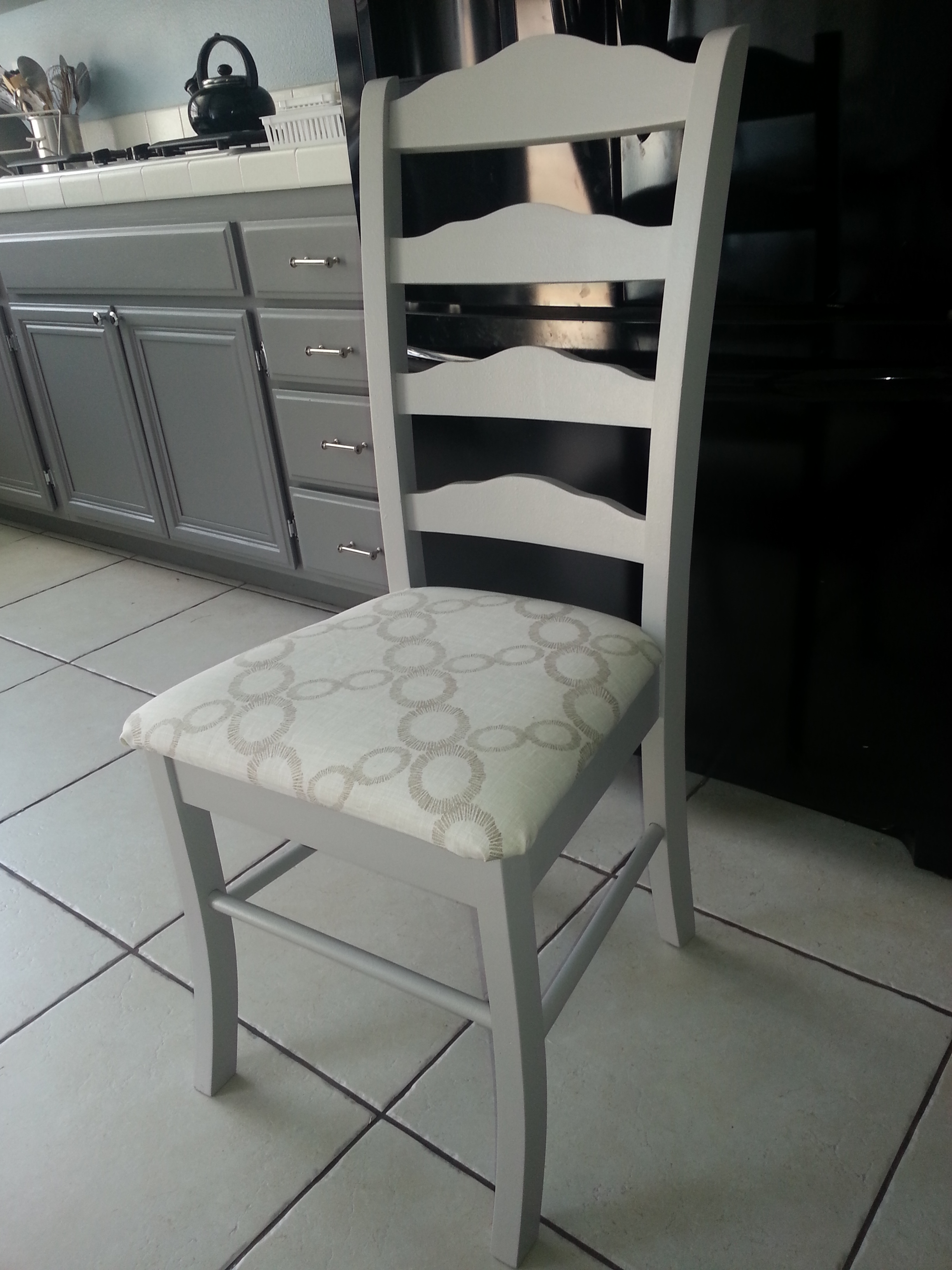 My Recycled, Refinished and Reupholstered Chair