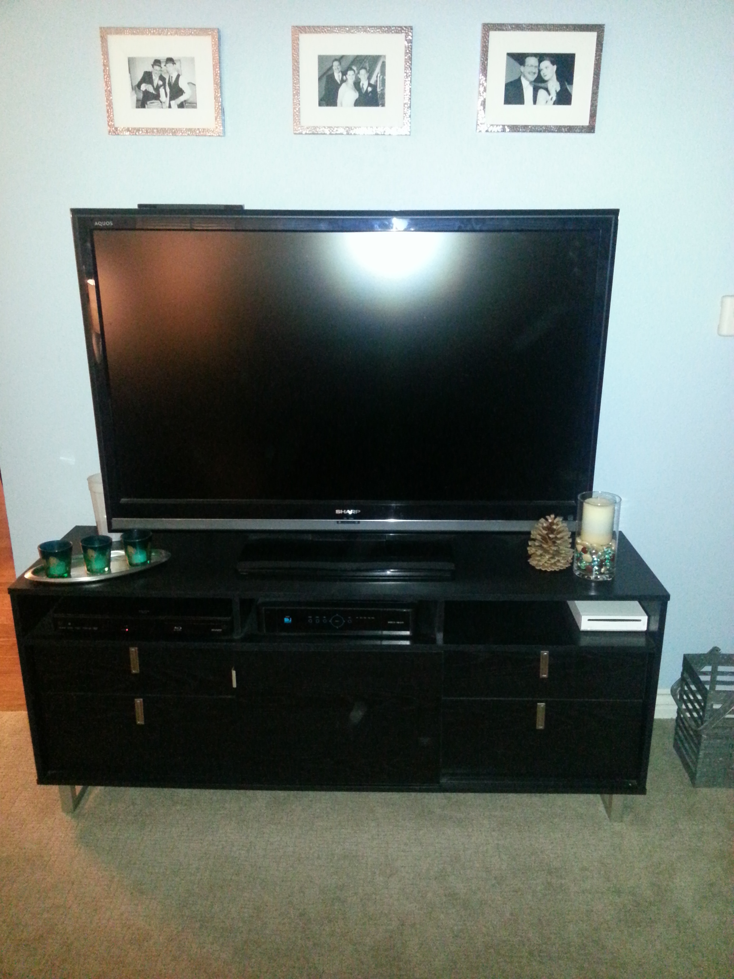 Entertainment Cabinet in place and all dressed up for the room.