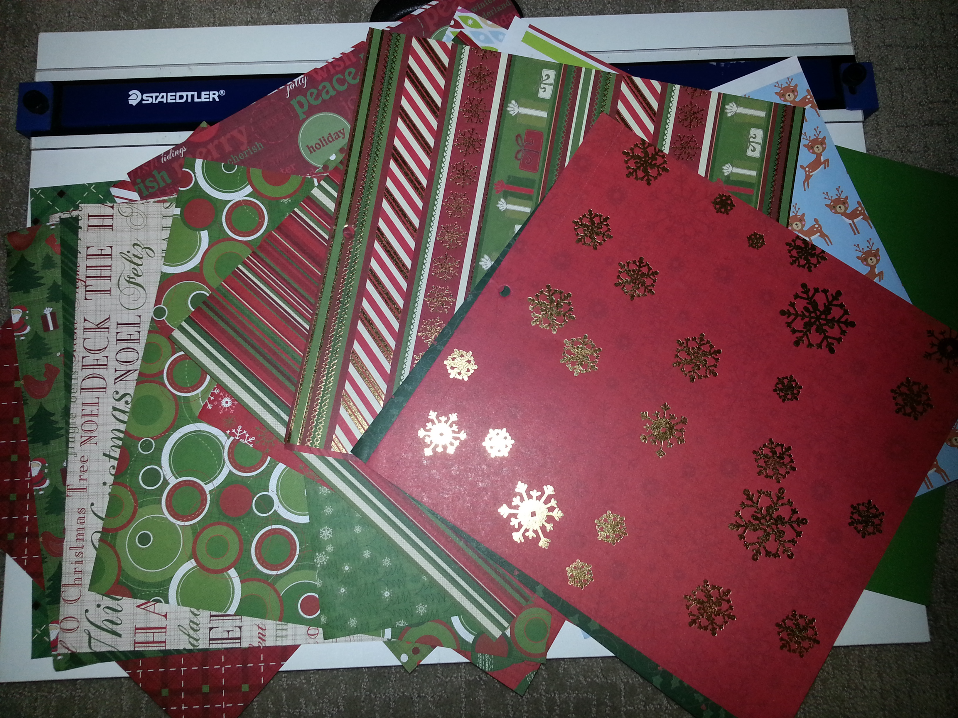 Christmas Cardstock Paper - you will need 25