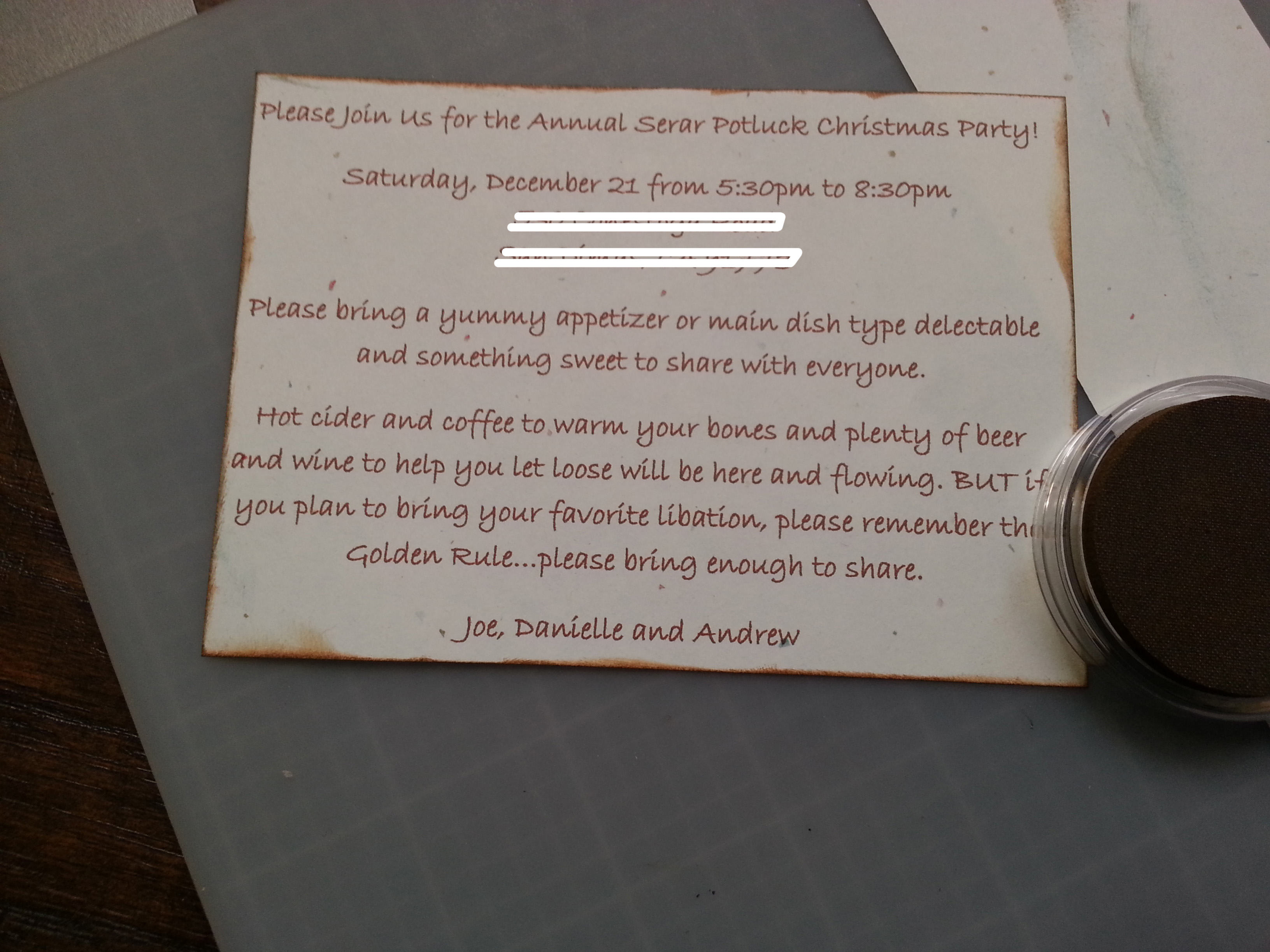 Embellishing Inserts for Handmade Invitations www.wifemomhouseohmy.com