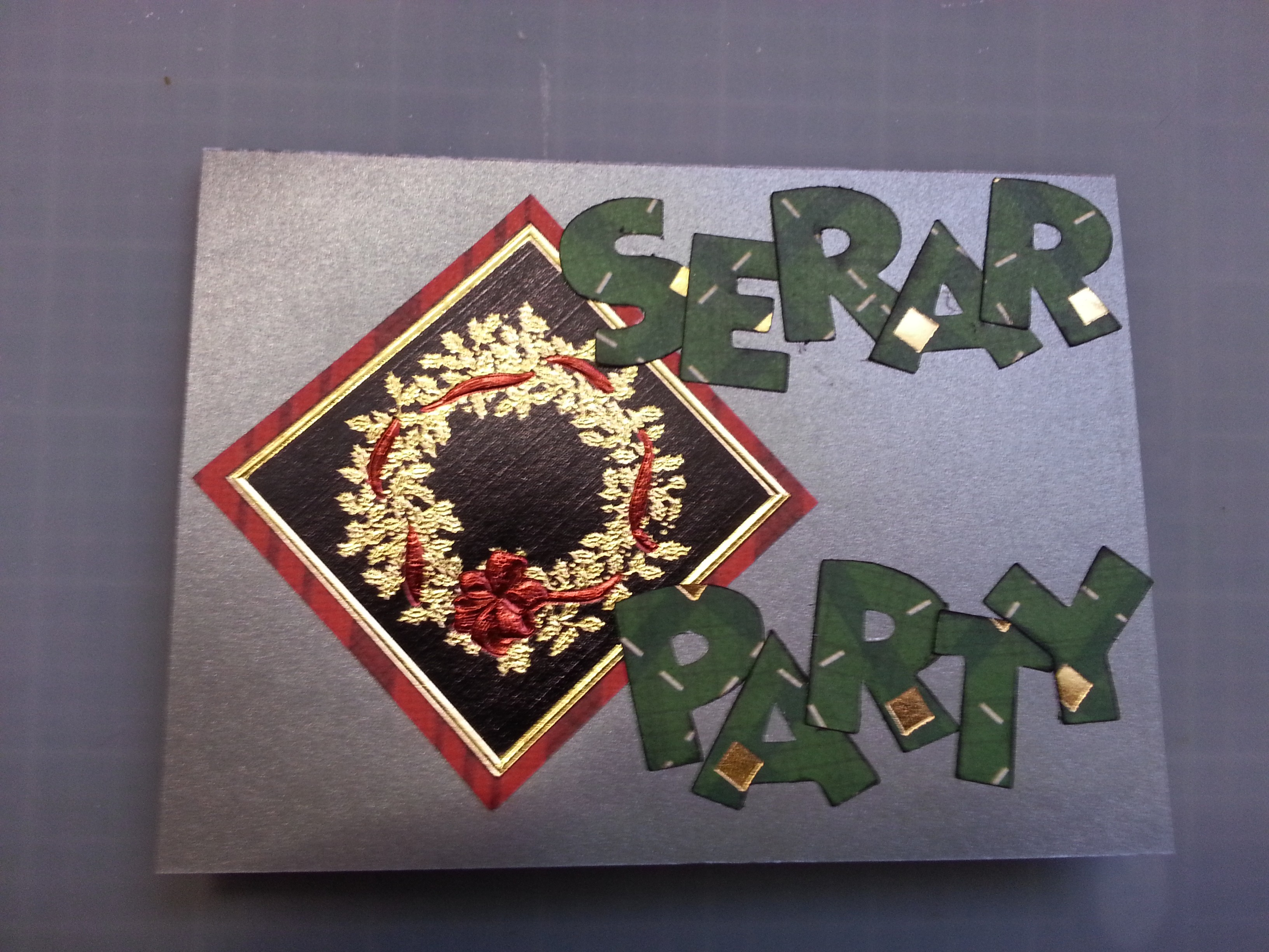 Homemade Christmas Party Invitation www.wifemomhouseohmy.com