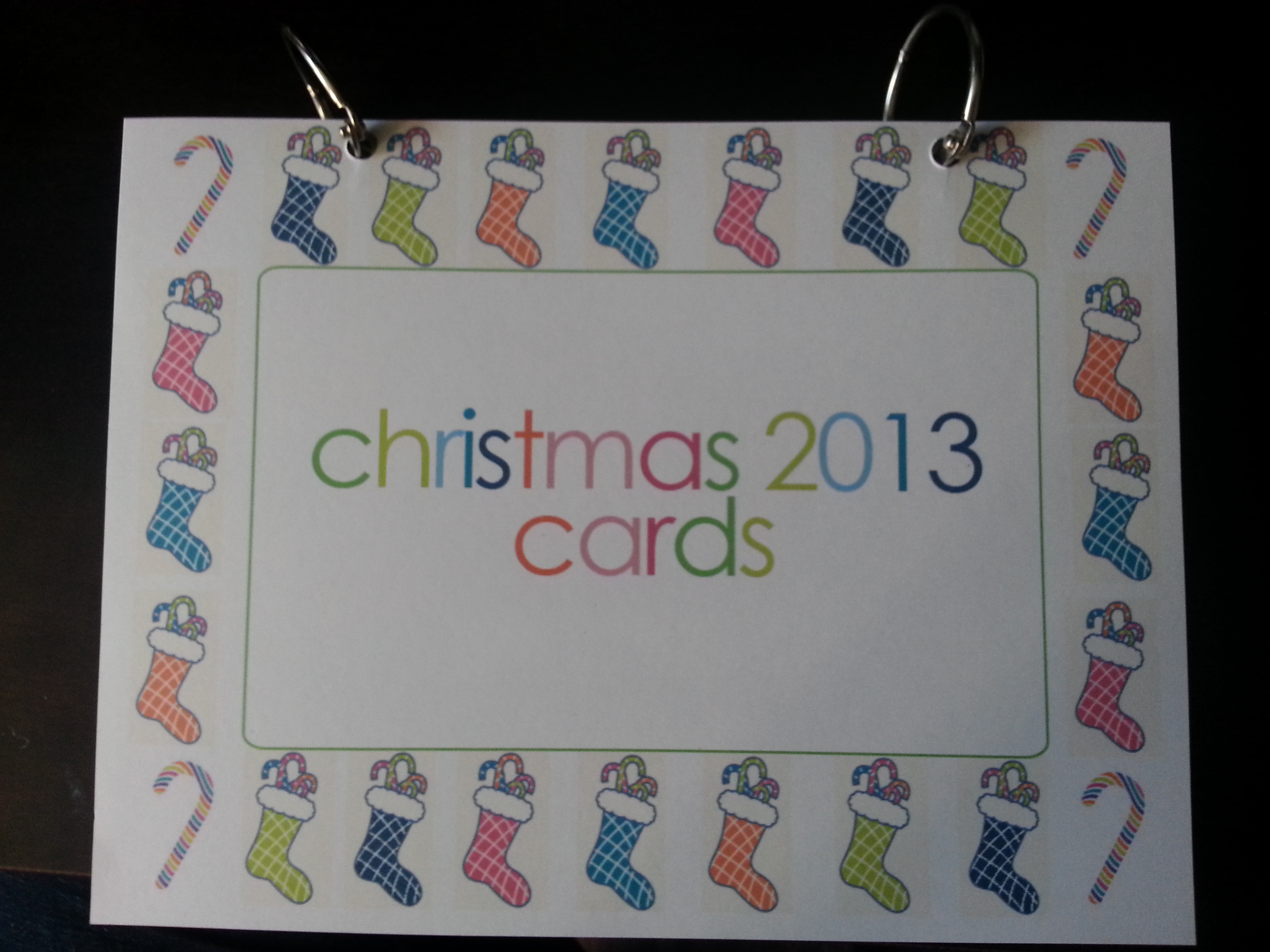 Make Your Own Christmas Card Book www.wifemomhouseohmy.com