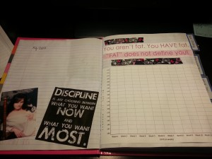 I started with goals and a photo of me at my healthiest and found a weight tracker online.