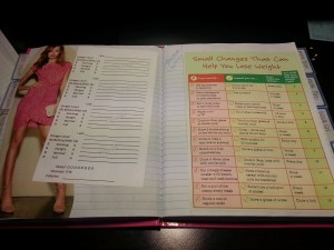 This weekly journal and info page actually features small steps to increase weight loss without much effort.