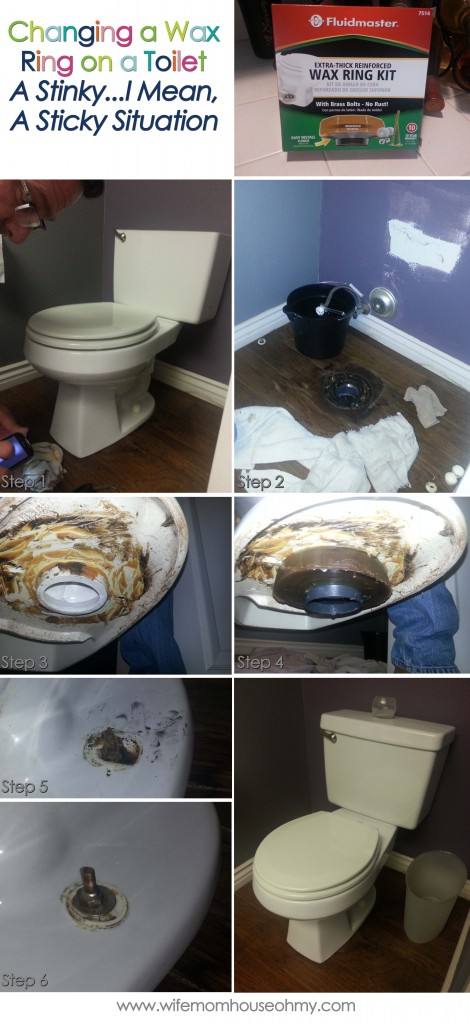 Changing the Wax Ring on a Toilet www.wifemomhouseohmy.com