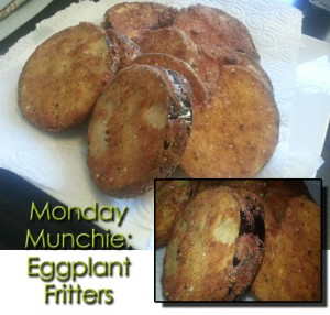 Monday Munchie Eggplant Fritters www.wifemomhouseohmy.com