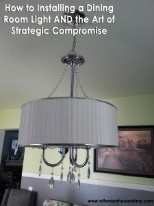 Install a dining room light www.wifemomhouseohmy.com