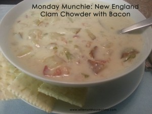 New England Clam Chowder with Bacon