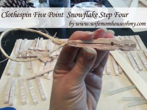 Clothespin Five Point  Snowflake Step four www.wifemomhouseohmy.com