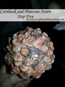 Cornhusk and Pinecone Acorn Step Five www.wifemomhouseohmy.com
