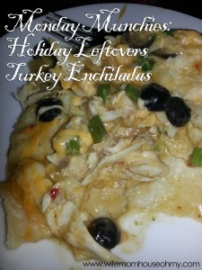 Holiday Leftovers Turkey Enchiladas www.wifemomhouseohmy.com