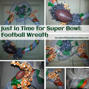 Just In Time For Super Bowl: A Football Wreath www.wifemomhouseohmy.com