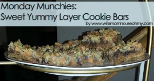 Monday Munchies: Sweet Yummy Layer Cookie Bars www.wifemomhouseohmy.com