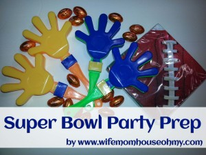 Super Bowl Party Prep