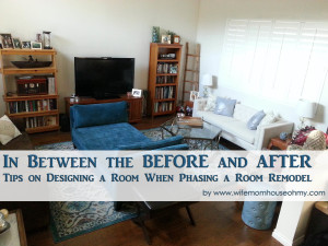 The In Between of a Room Makeover www.wifemomhouseohmy.com