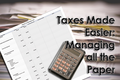 Taxes Made Easier Manage the Paper www.wifemomhouseohmy.com