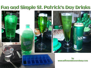 Fun and Simple St. Patrick's Day Drinks www.wifemomhouseohmy.com