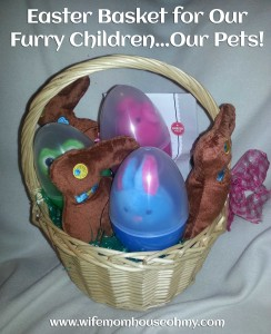 Easter Basket for Our Furry Children Our Pets www.wifemomhouseohmy.com
