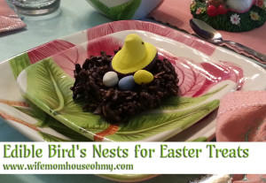 Edible Bird's Nests for Easter Treats www.wifemomhouseohmy.com