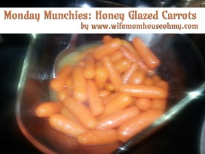 Monday Munchies: Honey Glazed Carrots www.wifemomhouseohmy.com