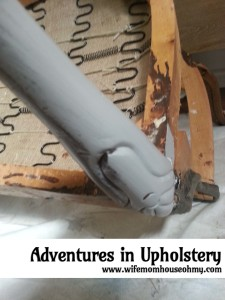 Adventures in Upholstering - Refinishing 3