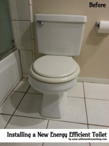 Before Installing a New Energy Efficient Toilet www.wifemomhouseohymy.com
