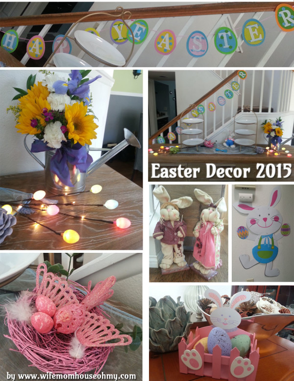 Here is the Living Room Easter Decor
