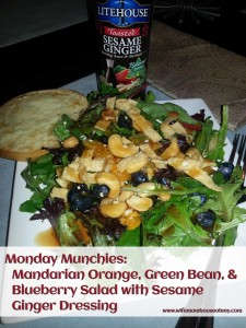 Monday Munchies: Mandarian Orange, Green Bean, and Blueberry Salad with Sesame Ginger Dressing