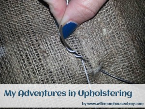 Upholstery needles are cool! They are curved!