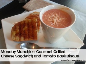 Monday Munchies Gourmet Grilled Cheese and Tomato Basil Bisque www.wifemomhouseohmy.com