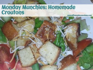 Monday Munchies Homemade Croutons www.wifemomhouseohmy.com