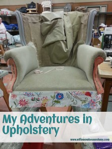 My Adventures in Upholstery Adding Finish Fabrics www.wifemomhouseohmy.com
