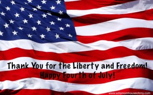 Thank You for the Liberty and Freedom! Happy Fourth of July! Www.wifemomhouseohmy.com