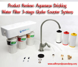 Aquasana Drinking Water Filter 3-stage Under Counter System Product Review