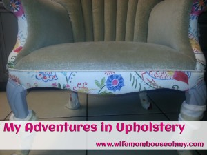 My Adventures in Upholstery: Adding the Front Band and Arm Inserts www.wifemomhouseohmy.com