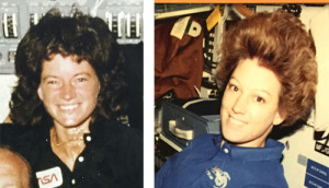 Sally Ride (left) and Eileen Collins (right)