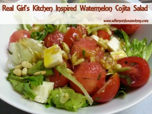 Real Girl's Kitchen Inspired Watermelon Cojita Salad www.wifemomhouseohmy.com