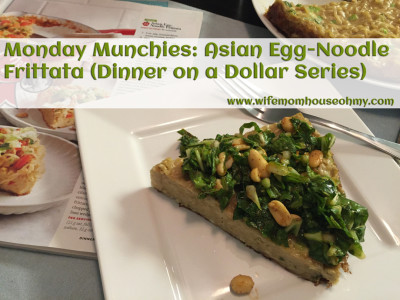 Monday Munchies: Asian Egg-Noodle Frittata (Dinner on a Dollar Series) www.wifemomhouseohmy.com