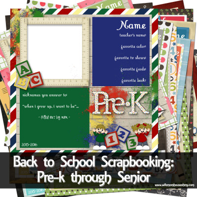 Back to School Scrapbooking: Pre-k through Senior www.wifemomhouseohmy.com