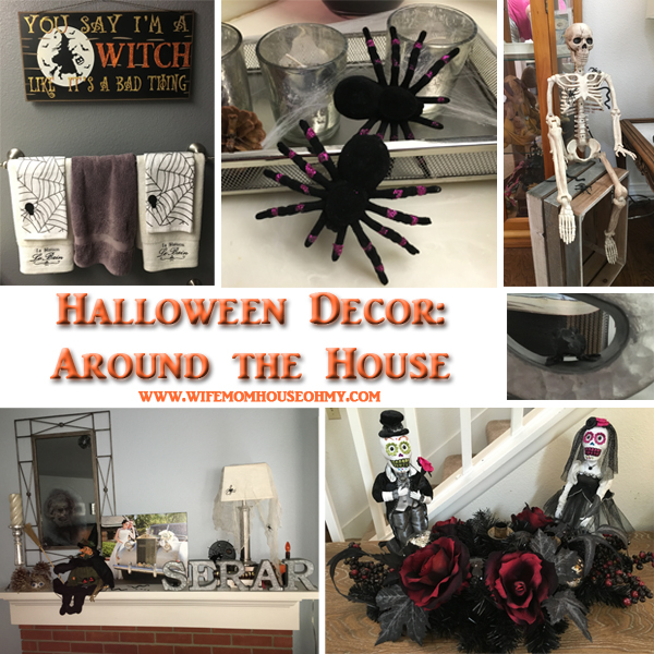 Inside and Outside Halloween Craft and Decor: Around the House www.wifemomhouseohmy.com