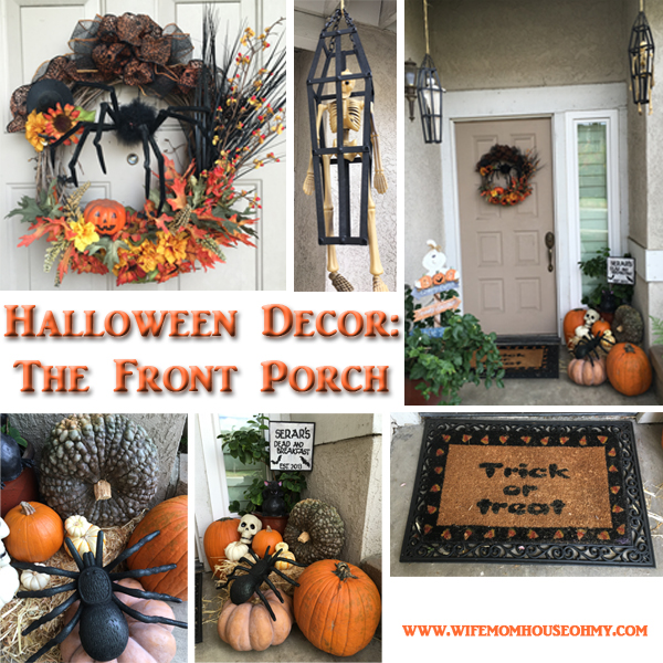 Inside and Outside Halloween Craft and Decor: Outdoor Decor www.wifemomhouseohmy.com