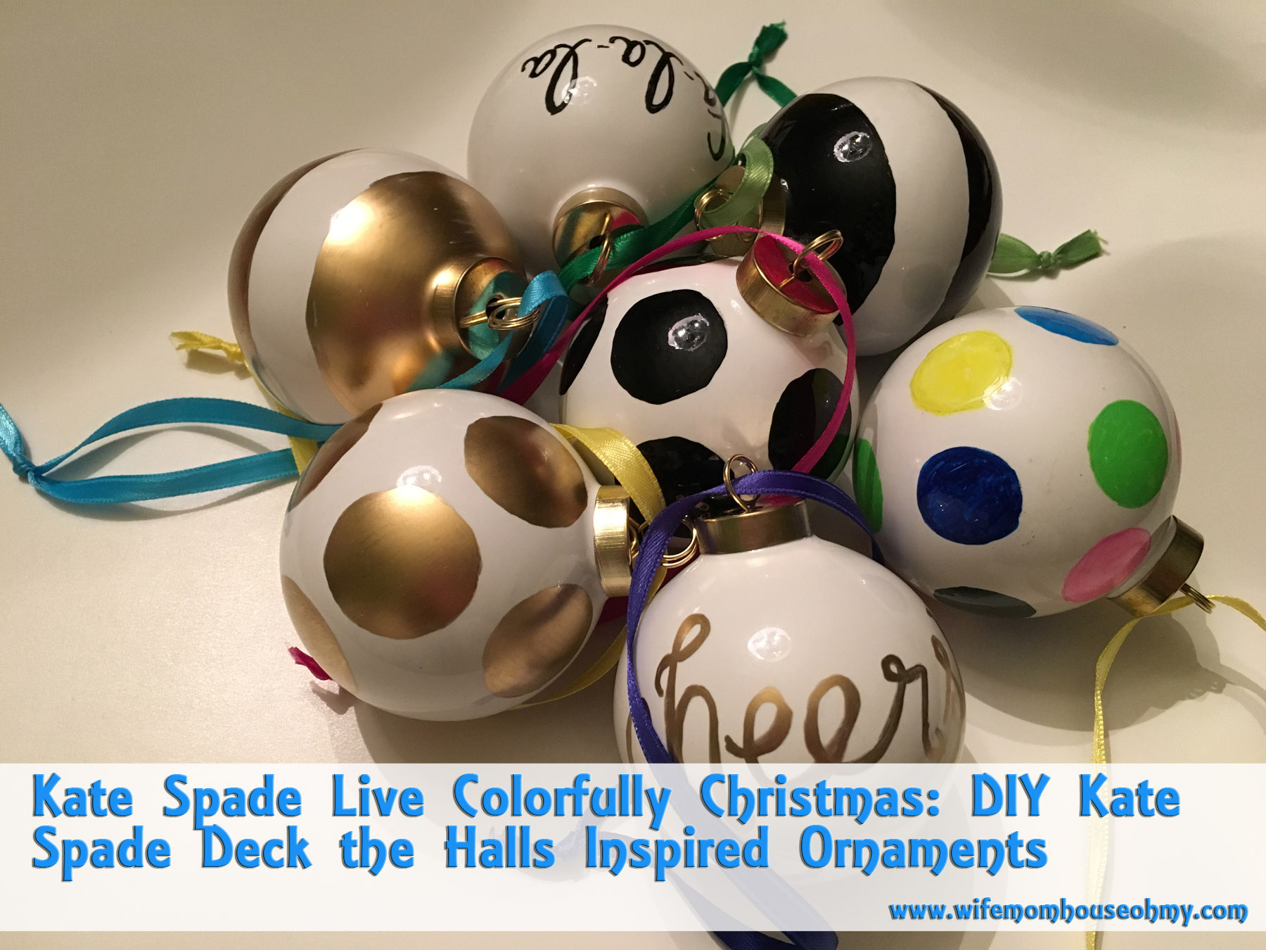 Kate Spade Live Colorfully Christmas: DIY Kate Spade Deck the Halls ...