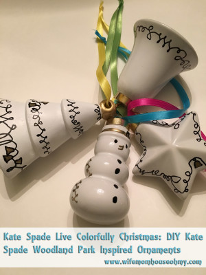 Kate Spade Live Colorfully Christmas: DIY Kate Spade Woodland Park Inspired Ornaments www.wifemomhouseohmy.com