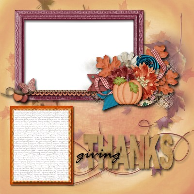 THANKSgiving Scrapbooking www.wifemomhouseohmy.com