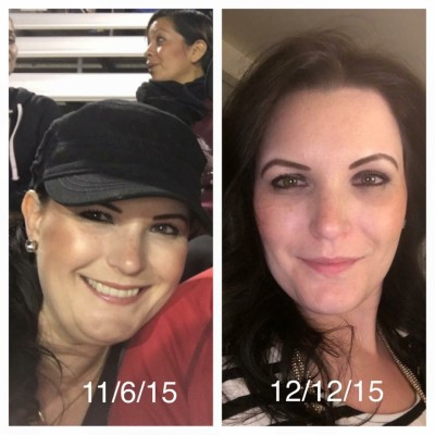 The photo on the left is one week before I started my new health journey. The photo on the right is 30 days after I started my new healthy journey. The results of just 30 days has been amazing.