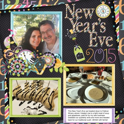 Scrapbooking Savvy: New Year's Eve Page www.wifemomhouseohmy.com