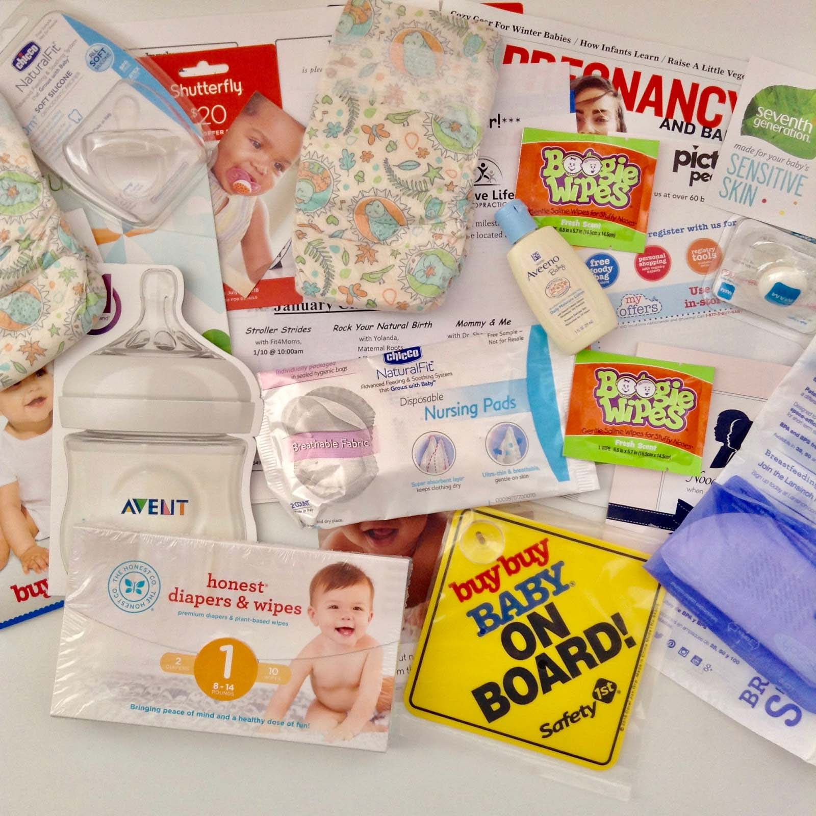 Baby Registry Welcome Box 10 mixed baby samples