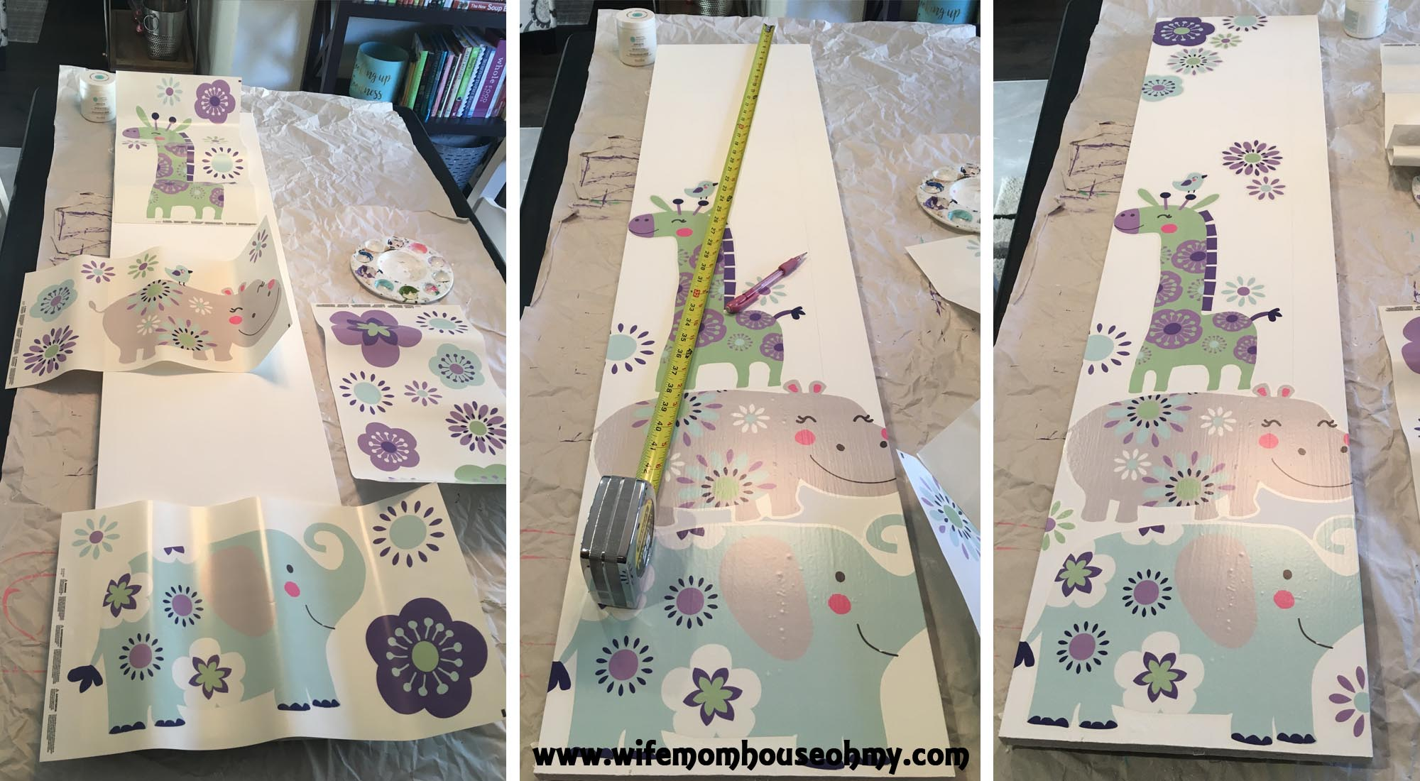 Personalizing a nursery diy growth chart using a stud finder i located the studs in the wall where i planned on hanging baby girls growth chart making sure the growth chart geenschuldenfo Image collections